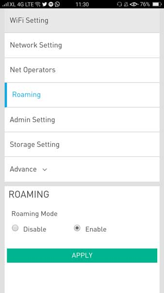 roaming mode xl go