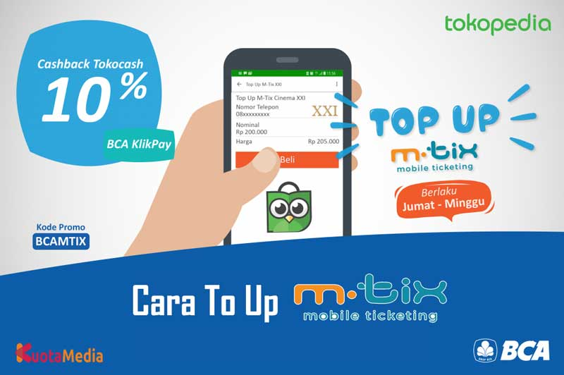Cara Top Up M-Tix
