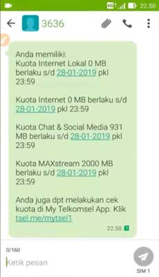 cek kuota maxstream