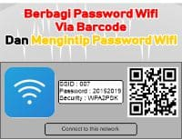 Cara Share Password Wifi Barcode