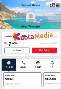 Cek Kuota MAXStream My Telkomsel