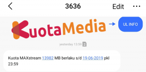 Cek Kuota Maxstream SMS