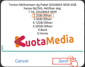 Paket Kuota MAXStream Via Code Dial 4
