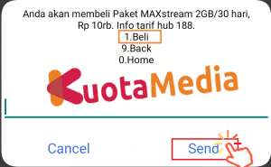 Paket Kuota MAXStream Via Code Dial 5