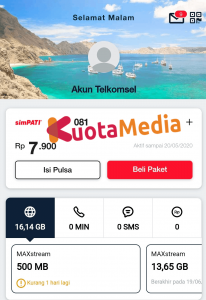 Paket MAXStream Di My Telkomsel 2