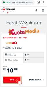 Paket MAXStream Di Website Telkomsel 4