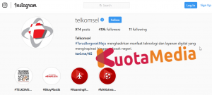 Layanan Telkomsel Via Instagram