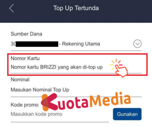 Top Up Brizzi Lewat Aplikasi Brimo 3