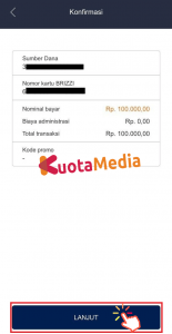 Top Up Brizzi Lewat Aplikasi Brimo 6