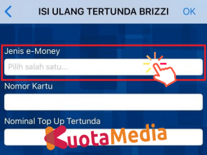 Top Up Brizzi Lewat BRI Mobile 4