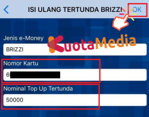 Top Up Brizzi Lewat BRI Mobile 6