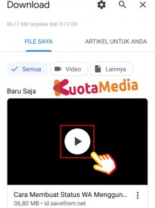 Cara Share Membagikan Video Youtube ke Status WhatsApp 14