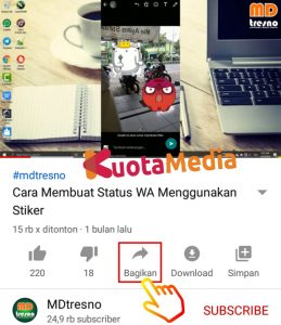 Cara Share Membagikan Video Youtube ke Status WhatsApp 4
