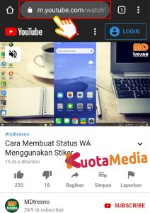Cara Share Membagikan Video Youtube ke Status WhatsApp 8